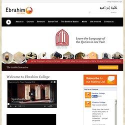 Ebrahim College « Islamic courses in London