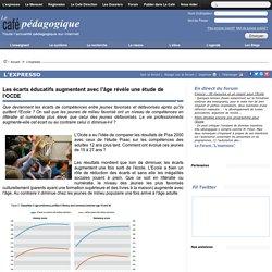 Les écarts éducatifs augmentent avec l'âge révèle une étude de l'OCDE
