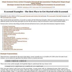 Ecasound Examples