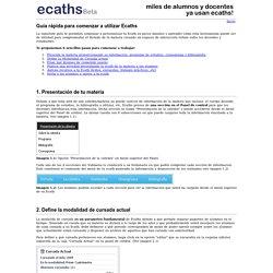 Ecaths - Guía para comenzar a utilizar Ecaths