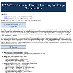ECCV 2010 Tutorial on Feature Learning