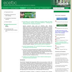 EUROPEAN CENTRE FOR ECOTOXICOLOGY AND TOXICOLOGY OF CHEMICALS (ECETOC) - Targeted Risk Assessment (TRA) - Targeted Risk Assessme