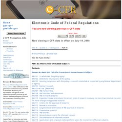 — Code of Federal Regulations