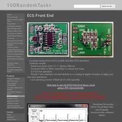 ECG Front End - 100RandomTasks
