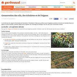 Ail, Echalote, Oignon : Conservation