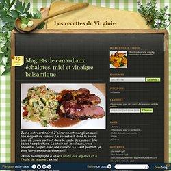 Magrets de canard aux échalotes, miel et vinaigre balsamique - Les recettes de Virginie