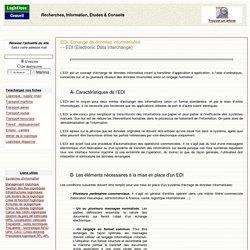 EDI - Echange de données informatisées