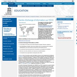 Centre d'échange d'information sur l'ECC