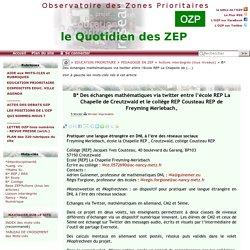 Des échanges mathématiques via twitter entre l'école REP La Chapelle de(...)