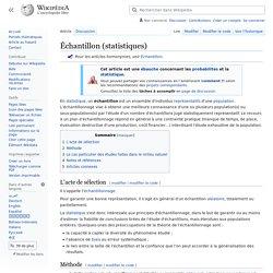 Échantillon (statistiques)