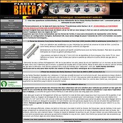 Echappement harley-Davidson libéré ou comment retrouver le bruit Harley qui a fait la légende!