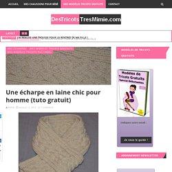 Une écharpe en laine chic pour homme (tuto gratuit)