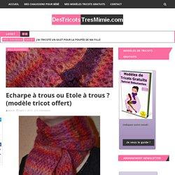 Echarpe à trous ou Etole à trous ? (modèle tricot offert)