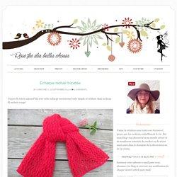 Echarpe mohair tricotée - Rose fée des belles choses
