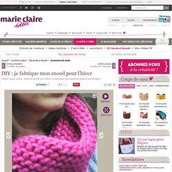 Snood, col, écharpe, tricot, crochet, couture