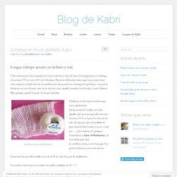 Echarpe en tricot dentelle (tuto)