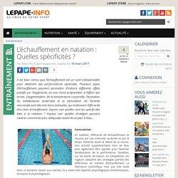 L'échauffement en natation : Quelles spécificités