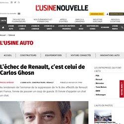 L'échec de Renault, c'est celui de Carlos Ghosn
