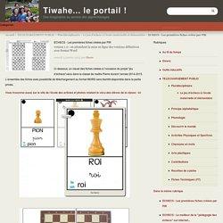 ECHECS - Les premières fiches créées par PiR - Tiwahe... le portail !