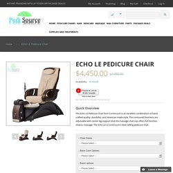 Echo LE Pedicure Chair - Pedisource