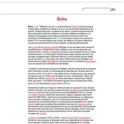 Écho (musique).
