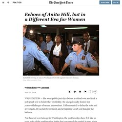 Echoes of Anita Hill, but in a Different Era for Women