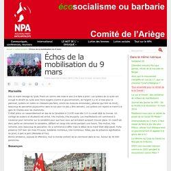 Échos de la mobilisation du 9 mars