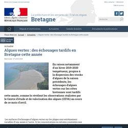 PREFECTURES-REGIONS_GOUV_FR 27/04/20 Algues vertes : des échouages tardifs en Bretagne cette année