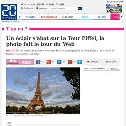 Un éclair s'abat sur la Tour Eiffel, la photo fait le tour du Web