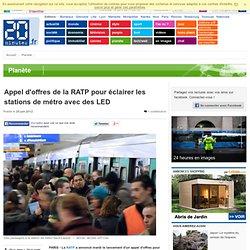 PARIS - Appel d'offres de la RATP pour clairer les stations de m tro avec des LED