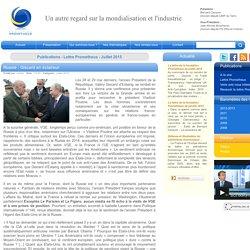 Russie : Giscard en éclaireur