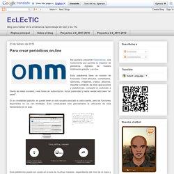 EcLEcTIC: Para crear periódicos on-line