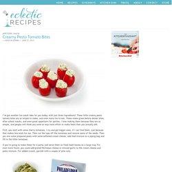 Creamy Pesto Tomato Bites