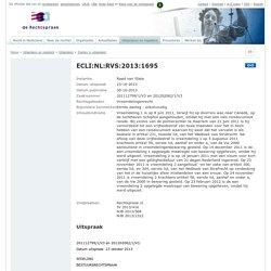 ECLI:NL:RVS:2013:1695, Raad van State, 201112799/1/V3 en 201202062/1/V3