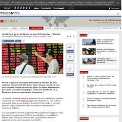 Le défaut grec éclipse le krach boursier chinois