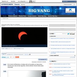 Eclipse solar en directo: Tierra, luna y sol alineados