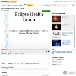 Eclipse Health Group in Calgary, Alberta