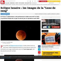 """Eclipse lunaire : les images de la """"Lune de sang"""""""