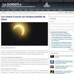 Les choses à savoir sur l'éclipse partielle de Soleil