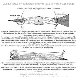 Éclipse et comment prouver que la terre est ronde