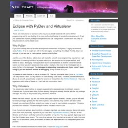 Eclipse with PyDev and Virtualenv - Neil Traft