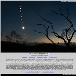 Total Solar Eclipse 2012 photos, near Mount Carbine, Queensland, Australia