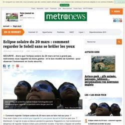Eclipse solaire du 20 mars : comment regarder le Soleil sans se brûler les yeux