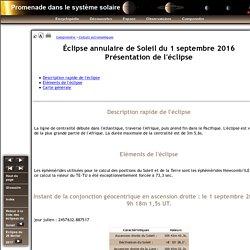 Eclipse de Soleil du 1 septembre 2016