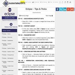 Eclipse Tips & Tricks