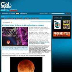 L'éclipse totale de Lune du 28 septembre en images