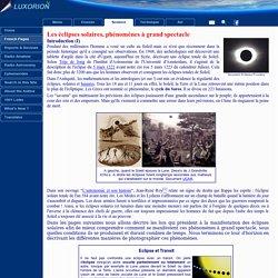 Les éclipses, phénomènes à grand spectacle