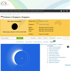 Eclipses visible in Singapore, Singapore - Mar 8, 2016 Solar Eclipse