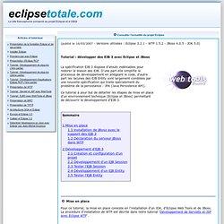 Tutorial : développement d'EJB 3 avec Eclipse et JBoss