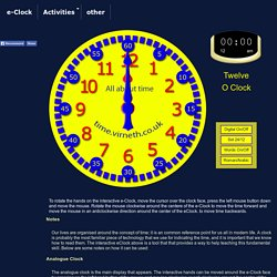 The eClock - Learn all about time - Interactive Clock